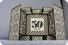 Typeset Large Square Double Display Card, Amanda Bates, The Craft Spa (1)
