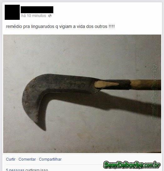 REMÉDIO PRA LINGUARUDOS!