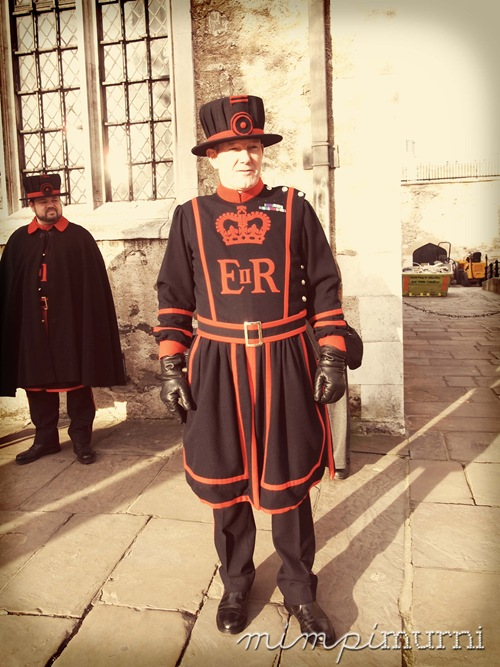 A Yeoman or better known as a Beefeater. If you ever get to visit the Tower of London, make sure you take a tour with one of these guys. It comes free with your ticket & I can't recommend it highly enough. They know the history of England inside out & belly-achingly funny!