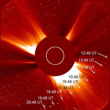 trajetória do cometa SOHO-2875
