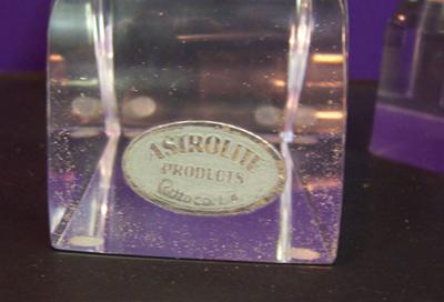Astrolite candlesticks, label