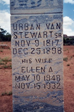 Grave of Urban Van Stewart and Ellen Adams