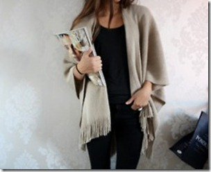 black and taupe outfit via pinterest