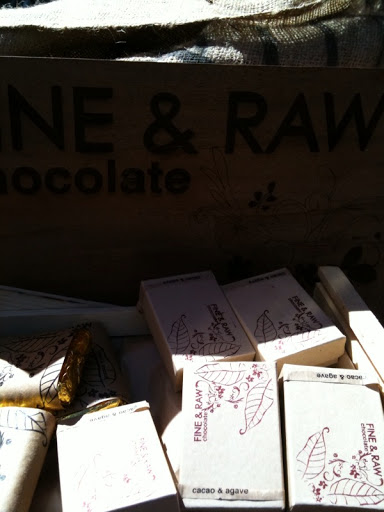 Fine + Raw chocolates.