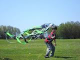 Kai flying his kite at Brenton Point in Newport