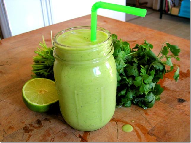 cilantro smoothie 5
