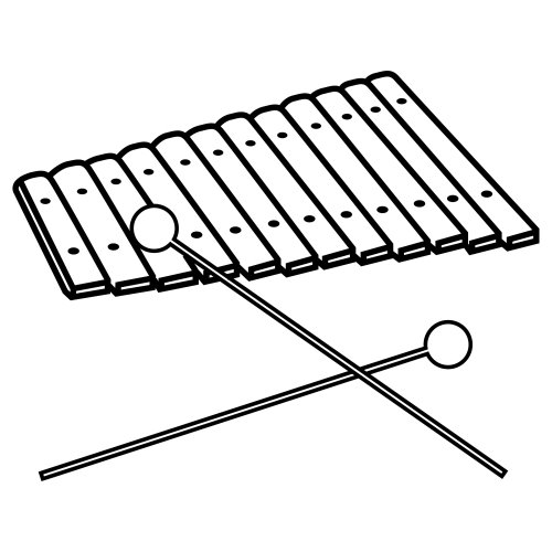 XYLOPHONE COLORING PAGES