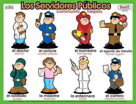 10 oficios y 10 profesiones en inglés y español - Imagui