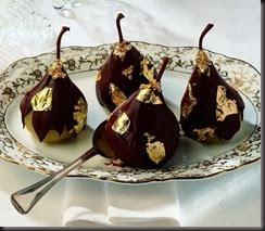 Pere cioccolato e oro