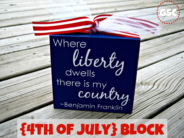 4th of July block