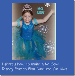 No Sew Disney Frozen Elsa Costume