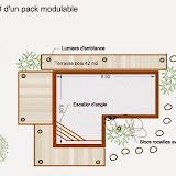 Plan de piscine bois enterrée Modern Pool