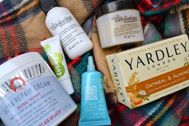 Winter Must Haves Review First Aid Beauty Lypsyl Philosophy Yardley Crabtree