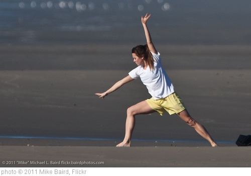'Girl doing exercises on Morro Strand State Beach' photo (c) 2011, Mike Baird - license: http://creativecommons.org/licenses/by/2.0/