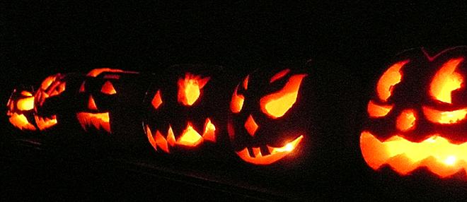 Тыквы в Хэллоуин