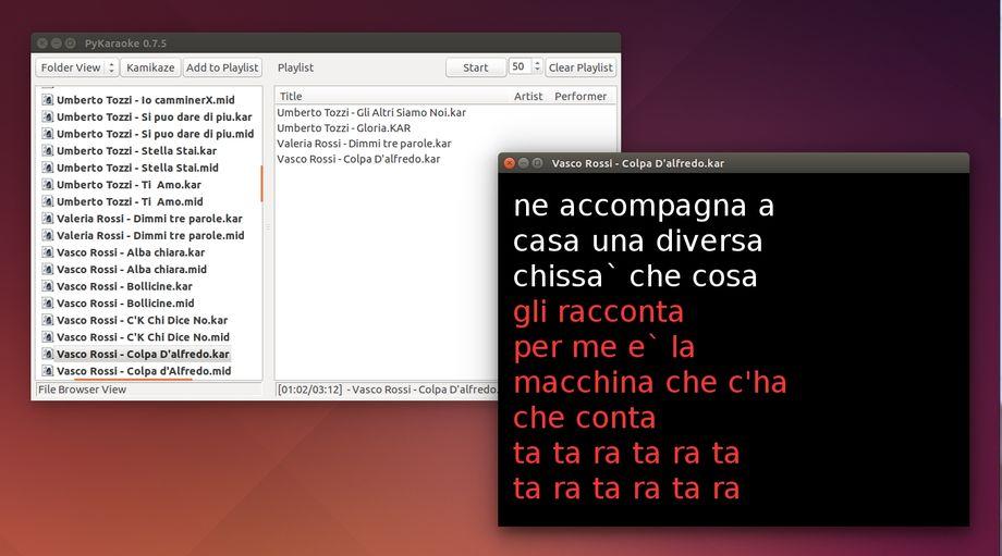 PyKaraoke in Ubuntu