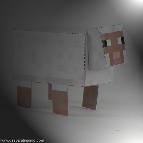 Paper Toys minecraft ovelha