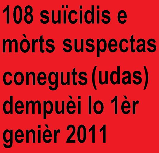 Suïcidis e mòrts suspectes en fRANÇA.