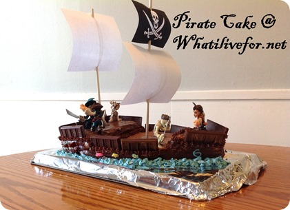 Pirate Cake @ whatilivefor.net