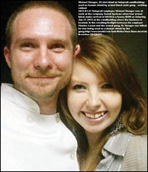 Stenger Michael with fiancee Rene Roestorf HE was shot dead when used as human shield by gang of armed blacks Sound Systems NELSPRUIT