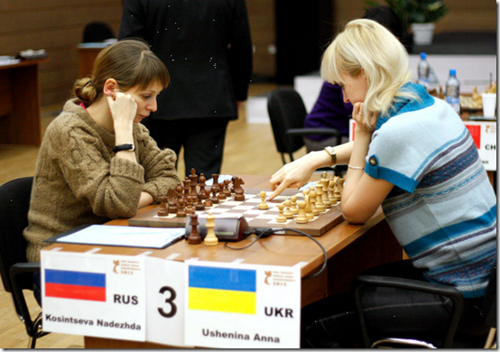 Kosintseva vs Ushenina, 4th Round, Women's World Chess Championship 2012, Khanty-Mansiysk, Russia