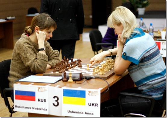 Kosintseva vs Ushenina, 4th Round, Women's World Chess Championship 2012, Khanty-Mansiysk, Russia