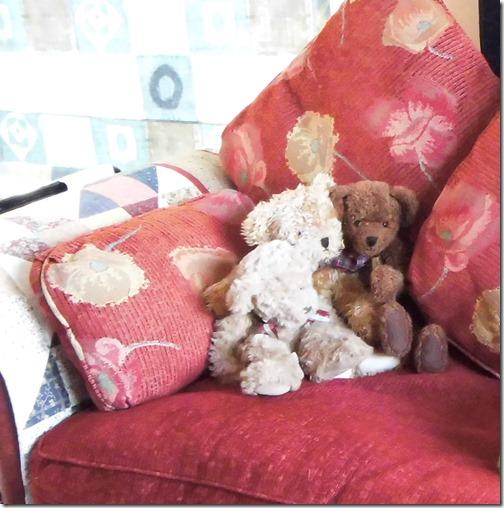 Teds on sofa