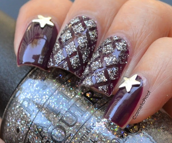 Glitter Criss Cross Nails
