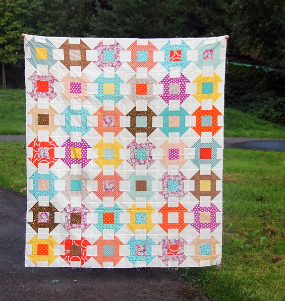 Fall Churn Dash Quilt, Cluck Cluck Sew