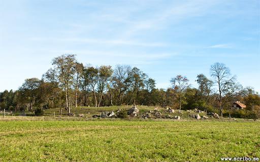 Gastbacken vid Linnés hammarby. Galgbacke i Danmarks socken