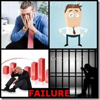FAILURE- 4 Pics 1 Word Answers 3 Letters