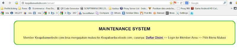 Keajaibanwebsite SCAM Alert