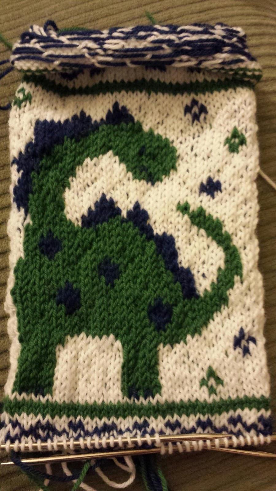 Knitting Pattern For Dinosaur Sweater : ChemKnits: Dinosaur Knitting Chart