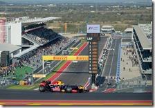 Vettel nelle prove libere del gran premio degli Stati Uniti 2012