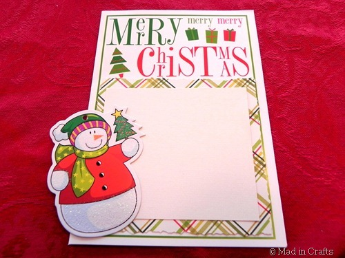 blank sign from christmas card