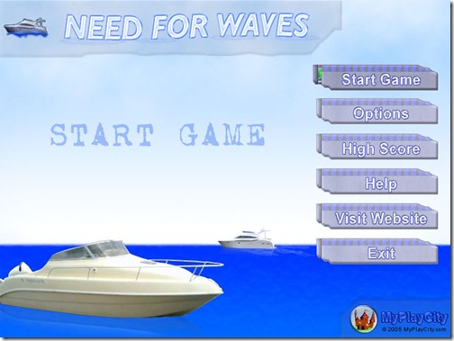 The boar racing game Need For Waves presents a breathtaking variety of cutter races.