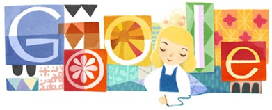 Mary Blair's 100th Birthday-Google Logo