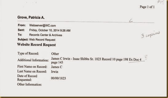 James C. Irwin sues Isaac Stubbs, Sr May Term 1823_0001
