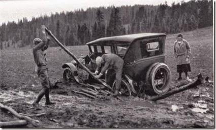 Car  stuck in Cedar Brakes, Utah
