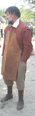 Plimoth Plant pilgrim man with leather apron