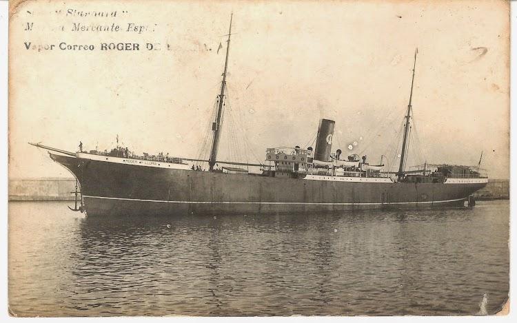 El ROGER DE LLURIA en Barcelona. Ca. 1919. Postal Colección Jaume Cifre Sanchez. Nuestro agradecimiento.jpg