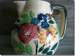 small floral creamer