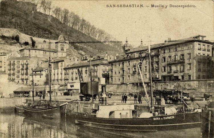 Vapor MARIA DEL CARMEN con la contraseña de Francisco Garcia. San Sebastian. Ca. 1904-1912. Foto de la web gureguipucoa.net.jpg