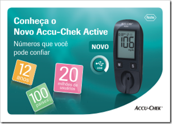 Banner eletrônico horizontal - Accu-Chek Active