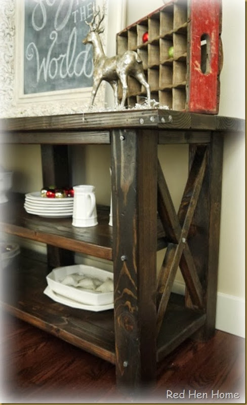 Red Hen Home Grand Rustic X Buffet 6