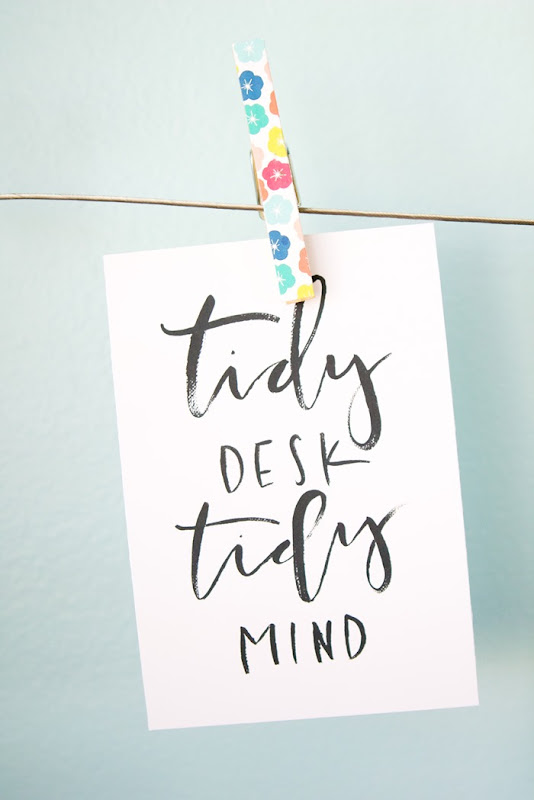 Blogging Tips and Tricks. Tidy Desk Printable