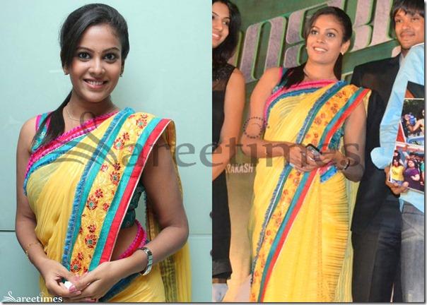 Chandini_Yellow_Saree