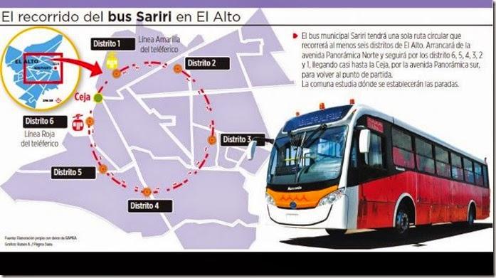 Transporte público en El Alto, Bolivia