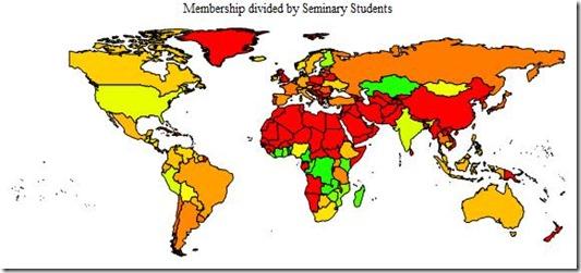 Seminary to membership World Map