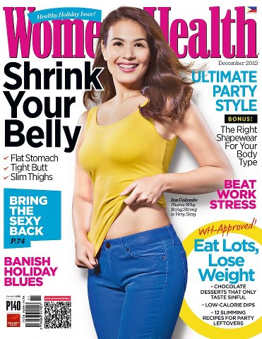 Iza Calzado covers Women&#39;s Health Ph Dec 2012